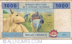 Image #2 of 1000 Francs 2002 - signatures J. F. Mamalepot / Louis Aleka-Rybert