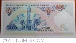 500 Lira L. 1970 (1983) - signatures Osman ŞIKLAR / Ruhi HASESKİ