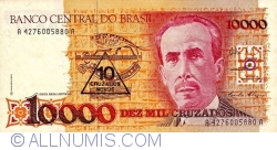 10 Cruzado Novo on 10000 Cruzeiros ND(1990)