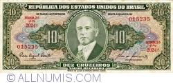 Image #1 of 10 Cruzeiros ND (1953-1960) - signaturesi Carlos Augusto Carrilho / Sebastião Paes de Almeida
