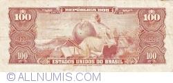 100 Cruzeiros ND(1964) - Signatures Sérgio Augusto Ribeiro/ Octávio Gouvêa de Bulhões