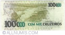 Imaginea #2 a 100 000 Cruzeiros ND(1993) - Semnaturi Fernando Henrique Cardoso/ Paulo Cesar Ximenes Alves Ferreira