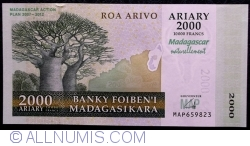 Image #1 of 2000 Ariary = 10000 Francs 2007