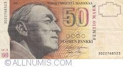 Imaginea #1 a 50 Markkaa 1986 (1991) - semnături Holkeri / Mäkinen