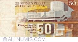 Imaginea #2 a 50 Markkaa 1986 (1991) - semnături Holkeri / Mäkinen