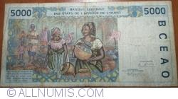 Image #2 of 5000 Francs (19)95