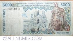 Image #1 of 5000 Francs (19)95