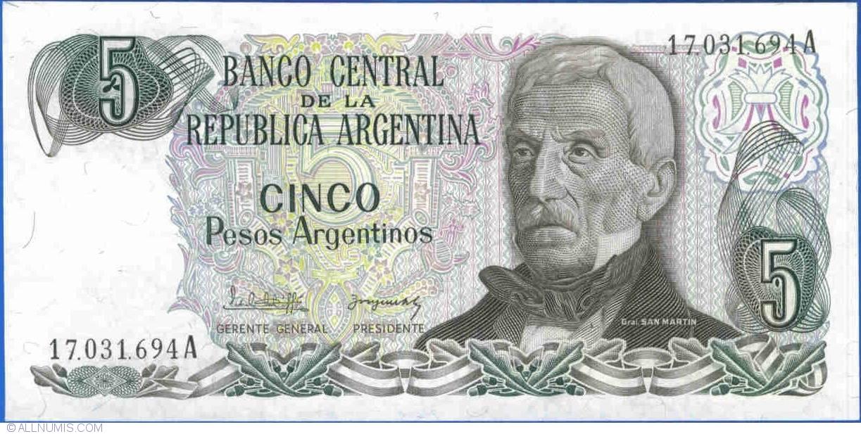 P-314 1983-1985 UNC Argentina 50 Pesos