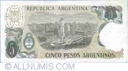 Image #2 of 5 Pesos Argentinos ND(1983-1985) - 1