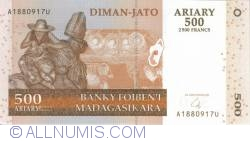 Image #1 of 500 Ariary = 2500 Francs 2004