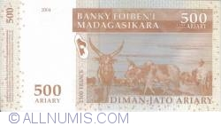 Image #2 of 500 Ariary = 2500 Francs 2004