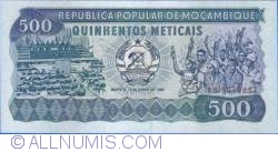 Image #1 of 500 Meticais 1983 (16. VI.)