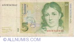 Image #1 of 5 Deutsche Mark 1991 (1. VIII.)