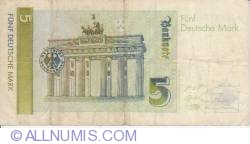 Image #2 of 5 Deutsche Mark 1991 (1. VIII.)