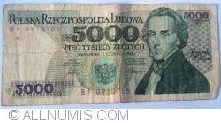 Image #1 of 5000 Zlotych 1986 (1. VI.)