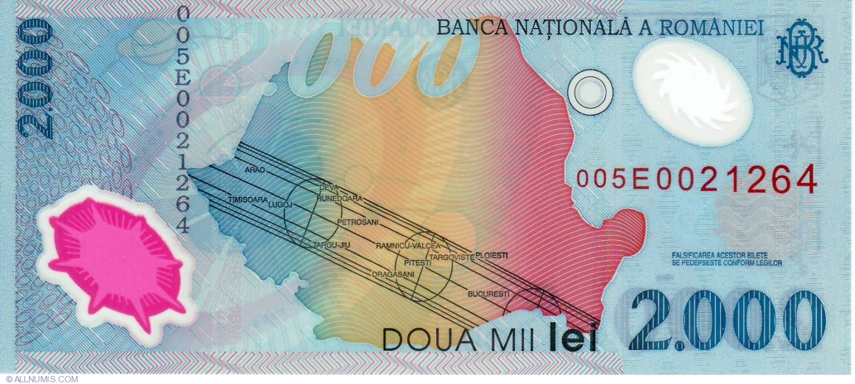 Romania 2000 Lei 1999 Pick 111.a UNC Uncirculated Banknote