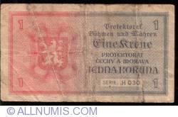 Imaginea #2 a 1 Koruna ND (1940)