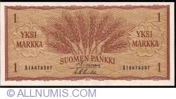 1 Markka 1963 - semnături Simonen/ Luukka
