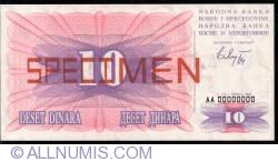 Imaginea #1 a 10 Dinara 1992 (1. VII.) - specimen