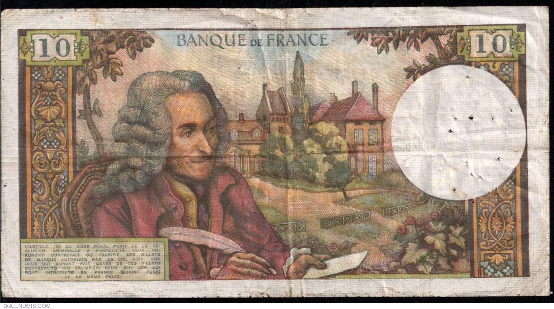 1972 147d UNC /> Voltaire France 10 francs P-147