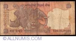 Imaginea #2 a 10 Rupees ND (1996) - semnătură Reddy (89)