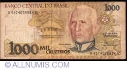Image #1 of 1000 Cruzeiros ND (1990) - Signatures Zélia Maria Cardoso de Mello/ Ibrahim Éris