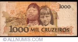 Image #2 of 1000 Cruzeiros ND (1990) - Signatures Zélia Maria Cardoso de Mello/ Ibrahim Éris
