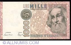 Image #1 of 1000 Lire D. 1982 - signatures Carlo Azeglio Ciampi / Fortunato Speziali