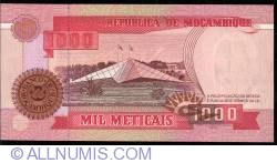 Image #2 of 1000 Meticais 1991 (16. VI.)