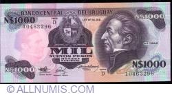 Image #1 of 1000 Nuevos Pesos ND(1992) - Serie D