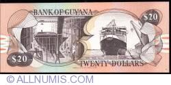 Imaginea #2 a 20 Dollars ND (1989) - semnături Archibald Meredith / Asgar Ally