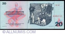 Imaginea #2 a 20 Korun 1970 (1971)