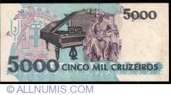 Image #2 of 5,000 Cruzeiros ND (1992)