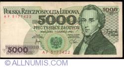 Image #1 of 5000 Zlotych 1982 (1. VI.)