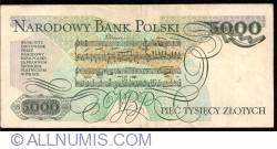 Image #2 of 5000 Zlotych 1982 (1. VI.)