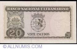 Imaginea #2 a 20 Escudos 1967 (24. X.) - semnături Samuel Rodrigues Sanches / Francisco José Vieira Machado