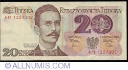 Image #1 of 20 Zlotych 1982 (1. VI.) - 1