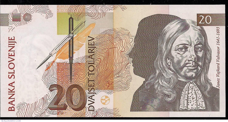 Slovenia 20 Tolarjev p-12 1992 UNC Banknotes