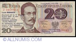 Image #1 of 20 Zlotych 1982 replacement note