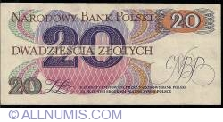 Image #2 of 20 Zlotych 1982 replacement note