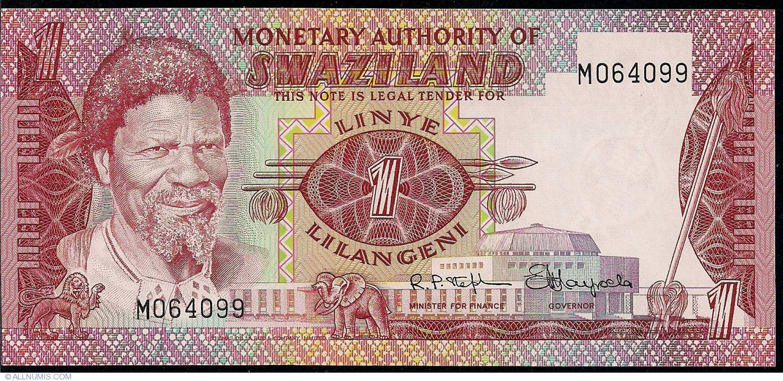UNC ND P-1 Swaziland 1 Lilangeni 1974