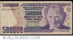 Image #1 of 500,000 Lira L.1970 (1993) - signatures Ş. Yaman TÖRÜNER / Nedim USTA
