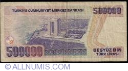 Image #2 of 500,000 Lira L.1970 (1993) - signatures Ş. Yaman TÖRÜNER / Nedim USTA