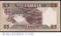 Imaginea #2 a 5 Kwacha ND (1980-1988)