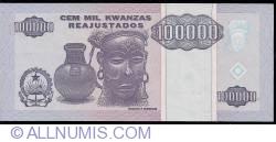 Imaginea #2 a 100 000 Kwanzas Reajustados 1995 (1. V.)