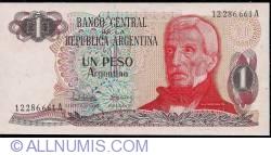 Image #1 of 1 Peso Argentino ND (1983-1984) - signatures Pedro Camilo López/ Julio C. González del Solar