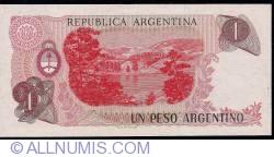Image #2 of 1 Peso Argentino ND (1983-1984) - signatures Pedro Camilo López/ Julio C. González del Solar
