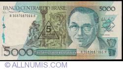 Imaginea #1 a 5 Cruzados Novos pe 5 000 Cruzeiros ND (1989)