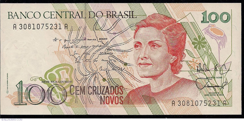 ND 1989 UNC Brazil 100 Cruzados P-220