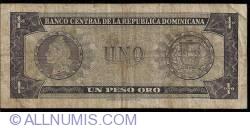 Imaginea #2 a 1 Peso Oro ND (1964-1973)